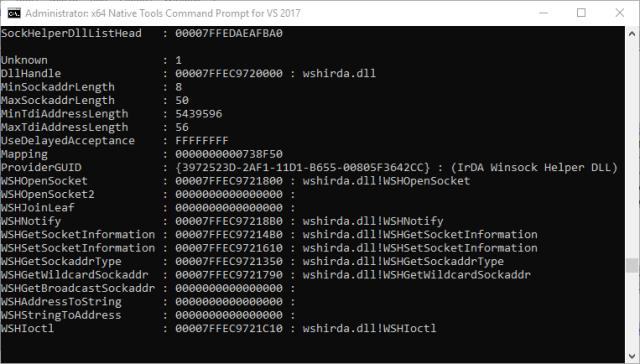 Windows Process Injection: Winsock Helper Functions (WSHX